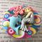 Mermaid Button Brooch