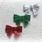 Christmas bow trio