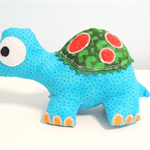 Tripp the turtle softie/soft toy/plush toy. Handmade using 'Melly & Me' pattern