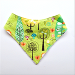 Lime Green Tree Bandana Bib