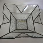 Stained glass / leadlight bowl - florial
