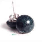 Forest Green Metallic Dome studs / earrings