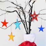 Unique Fused Glass Xmas Decorations - Xmas Star, Christmas Star