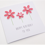 Handmade Birthday Card - Happy Birthday to you - Red