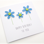 Handmade Birthday Card - Happy Birthday to you - Ocean Blue