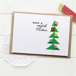 buttons christmas card geometric christmas tree