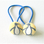 Penguin hair band set, blue yellow and white