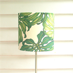 Tropical green large lampshade, ceiling, floor or table light