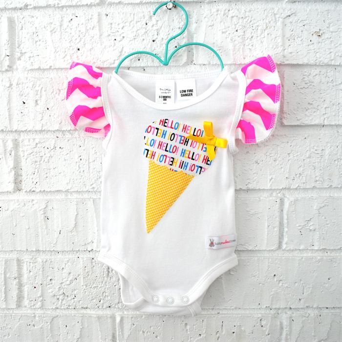 61c24fb45 Icecream Neon Baby Bodysuit - pink, toddler, summer, newborn, onesie    Bubby Makes Three   madeit.com.au
