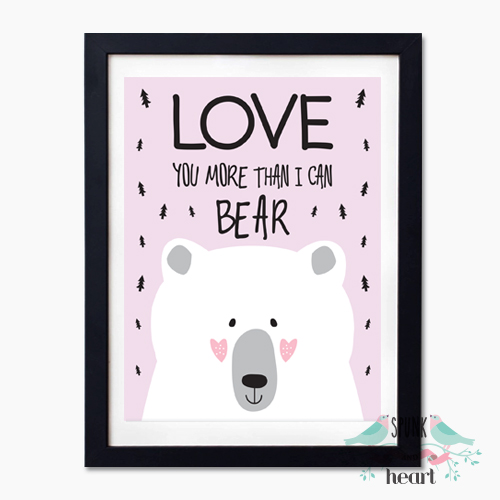 love you more than i can bear wall art print decor baby. Black Bedroom Furniture Sets. Home Design Ideas