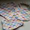 Baby Gift Set - Burp Cloth - Bandana Bib - Infant BIb - Colourful Moustaches