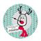 Reindeer Christmas Family Personalised Clock
