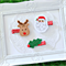 Christmas Hair Clips - Set of 3 - Reindeer, Santa & Holly Leaf