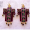 Earrings Russian style braid Czech glass beads