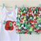 Boys Christmas Singlet and Nappy Cover Shorts Set ~ Dog