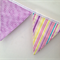 Stars and stripes in pinks and purples. Bunting, banner, decoration.