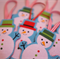 Christmas decorations - snowmen - set of 3
