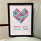 Geometric Heart Wall Frame