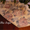 FREE POST Christmas Tree Skirt - 'SHABBY CHIC Vintage Rose'