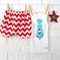 Christmas Santa Shorties and singlet - prop, xmas, boy, baby, red, chevron