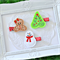 Christmas Hair Clips - Set of 3 - Christmas Tree, Snowman & Gingerbread Girl