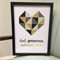 Geometric Heart Dad Wall Frame