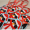 Christmas decorations - penguins - set of 3 - red white aqua