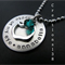 Personalized teacher gift 'Apple of my Eye' Apple Charm Necklace end of year.