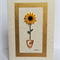 Blank Quilled Sunflower card