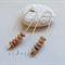 Argentium Sterling Silver range - mottled Czech glass bead earrings