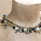 Denim & Lace Pearl Happy Charm Antique Bronze Necklace