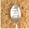What's Cooking? Hand Stamped Vintage Silver Serving Spoon. Dining Foodie Humor
