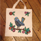 Hand Painted Original Design Quirky Bird Shopping Tote Bag- Eco Friendly