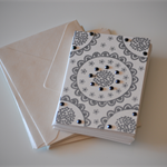Pack of 10 note cards - black & cream