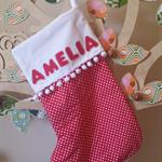 Personalised Christmas Santa Stocking by Arti Mardi
