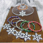 Snowy Snowflake - Christmas Wine Charms