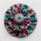Pink & Green Flower Double Yoyo Hair Clip