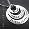 Personalised Any Names Family Eternity Circle Necklace Christmas Gift For Mum
