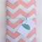 Gold Pink & White Chevron Fitted Cot Sheet