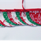 Fabric Bunting Christmas Candy Canes Christmas Trees Stars