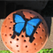 Mosquito Coil Holder with built in stand, Ulysses Butterfly Design