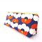 Make-up Zipper Pouch // Stationery Pencil Case in Blue Orange Flower Bud