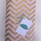 Gold & Pink Chevron Fitted Cot Sheet
