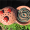 Mozzie Coil Holder with built in stand, Lady bug design