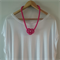 Pink Knotted Rope Necklace - or choose colour