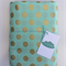 Aqua & Gold Dot Fitted Cot Sheet