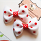 Pair of Red Polka Dots Hair Bow Clips