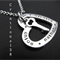 Personalized Silver Heart Pendant Necklace Handstamped Jewelry