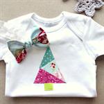1st christmas tree | baby onesie & knot bow headband | gift set