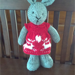 Christy Bunny Hand knitted Easter Toy Softie
